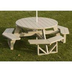 PH53 Park Octagon Picnic Table Finish Sand Patio, Lawn & Garden