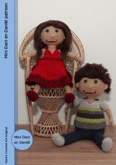 Mini Dani en Daniël met kleding patroon