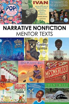 Click through to see my favorite mentor texts to use during narrative nonfiction lessons! Great read-alouds for a literary nonfiction unit in the elementary classroom! Library Lessons, Reading Lessons, Teaching Reading, Guided Reading, Teaching Ideas, Reading Strategies, Shared Reading, Kindergarten Writing, Reading Activities