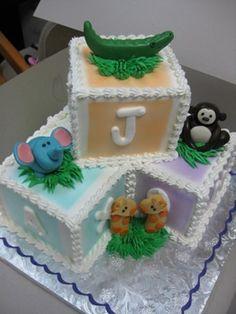 http://www.babyshowerinfo.com/ideas/safari-theme-baby-shower/ Safari/Jungle theme baby shower cake