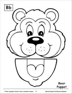 The Letter B: Bear Alphabet Puppet