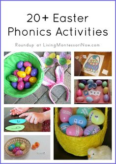 Roundup of 20+ Easter phonics activities for preschoolers through early elementary