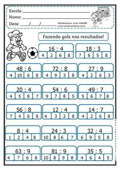 Dyslexia Activities, Math Quizzes, Kids Math Worksheets, Preschool Writing, Teaching Math, Multiplication, Activities For 6 Year Olds, Math Sheets, Math Division