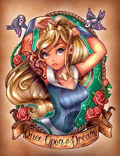 Tatuagem das Princesas Disney e Princesas Disney Tatuadas | Just Lia