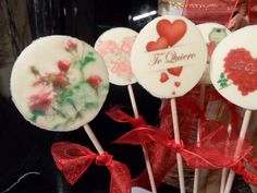 FotoPastel: Piruletas de chocolate blanco decoradas con chocotransfer paso a paso