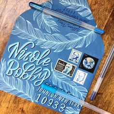 Hand lettering and illustrations by Saint Louis artist Jillian Kaye. Mail Art Envelopes, Addressing Envelopes, Envelope Lettering, Envelope Art, Water Brush Pen, Blog Art, Pen Pal Letters, Decorated Envelopes, Handwritten Letters