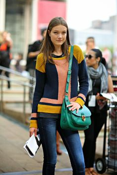 That bag MODELS JAM: Yumi Lambert, New York, September 2013