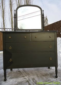 Marble Top Bombay Chest Redesigned By Little Green Table