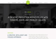 Matrix - A Creative Production Agency #webdesign #inspiration #UI