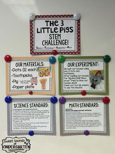 Sweet Sounds of Kindergarten : The 3 Little Pigs- STEM Challenge!!