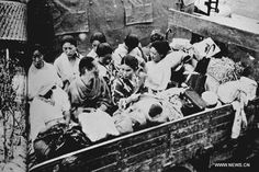 """This photo shows women who were forced to serve as sex slaves for Japanese troops being transported to a Japanese military camp. When the war ended, the only military tribunal concerning the sexual abuse of """"comfort women"""" took place in Batavia (now Jakarta, the capital of Indonesia) in 1948. Several Japanese military officers were convicted for having forced 35 Dutch women into """"comfort stations""""."""