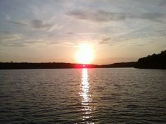 """Sunrise on Fort Gibson Lake - my favorite place to """"get away"""""""