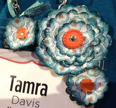 These paper flowers are lovely! More Amore' DSP Stampin' Up! Spring 2013