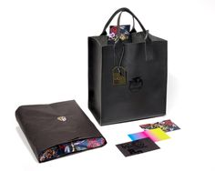 Limited Edition RITA ORA x ADIDAS heavy leather tote (and gift set) | Design — David J Weissberg