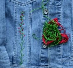 I am starting hand embroidery Hand Embroidery, Sewing Projects, Fabric, Jackets, Fashion, Tejido, Down Jackets, Moda, Tela