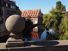 Blick von der Karlsbrücke in Nürnberg