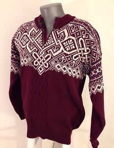 Check out Mens #DaleofNorway Nordic #Vail #Ski Pullover 1/4 Zip Sweater Jumper  Sz Large L http://www.ebay.com/itm/301850635412