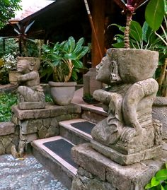 Stone Sculptures in Balinese Restaurant Garden by 1CheekyChimp, via Flickr
