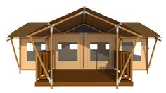 View the Luxury Suite Bamboo House, Hotels And Resorts, Lodges, Glamping, Gazebo, Safari, Outdoor Structures, Architecture, Tents