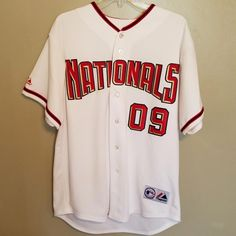 WASHINGTON NATIONALS GOOSE MAJESTIC BASEBALL JERSEY SIZE LARGE ADULT   baseballjerseys 670e89afa