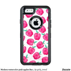 Modern watercolor pink apples Back to school OtterBox iPhone 6/6s Case