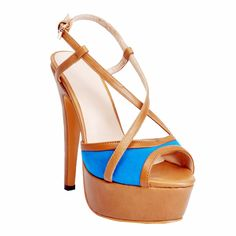 Womens Fashion Handmade 14.5cm Slingback Crisscross Buckle Strap High Heel Sandals Shoes XD097