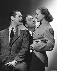 Robert Montgomery, William Powell and Joan Crawford, 1937