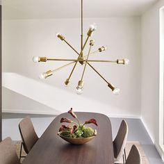 A classic mid-century design is given new life with the Armstrong 10 Light Chandelier. http://www.ylighting.com/blog/introducing-kichler-modern-lighting/