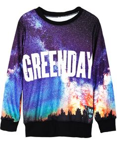 Black Long Sleeve Galaxy GREENDAY Print Sweatshirt US$31.15 sooo gorgeous♥♡♥♡♥♡love love love!