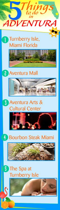 Aventura, FL is a fun city to visit, with lots of things to do! Here are our top 5: 1) Turnberry Isle, Miami Florida; 2) Aventura Mall; 3) Aventura Arts & Cultural Center; 4) Bourbon Steak Miami; 5) The Spa at Turnberry Isle http://www.waterfront-properties.com/blog/5-things-to-do-in-aventura-fl.html #aventurafl #aventura #aventuraflorida #thingstodo #aventuralifestyle #aventurarestaurants #aventurashopping #dining #restaurants #aventuradining