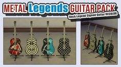 Sims 4 Updates: Mod The Sims - Objects, Electronics : Metal Legends Guitar Pack by ironleo78, Custom Content Download!