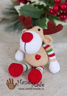 Amigurumi Deer Rudolph-Free Pattern | Amigurumi Free Patterns