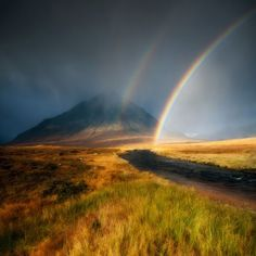 Rainbow by David Mould taken in Rannoch Moor, Argyll, Scotland (Commended in Classic View category)