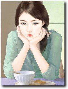 A depressed HANA talking with Hiro about their relationship 2015 Korean girl painting Cute Girl Drawing, Cute Drawings, Korean Art, Asian Art, Lovely Girl Image, Art Chinois, Cute Girl Wallpaper, Digital Art Girl, Painting Of Girl
