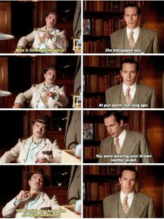 """""""The Russian knockout with the killer backhand"""" - Howard and Jarvis #AgentCarter ((THIS SCENE THOUGH))"""
