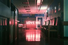 """Love me"", neon, words"