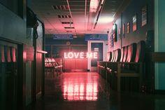 """""""Love me"""", neon, words"""