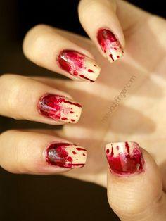 nail art bloody mess