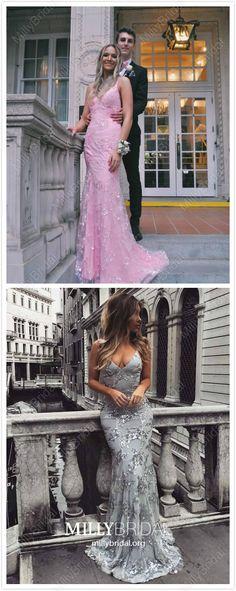 2019 Mermaid Prom Dresses Long, Black Formal Dresses For Teens, Lace Graduation Dresses Beautiful Simple Homecoming Dresses, Grey Prom Dress, Pink Formal Dresses, Formal Dresses For Teens, Prom Dresses For Teens, Elegant Prom Dresses, Hoco Dresses, Prom Dresses Online, Mermaid Prom Dresses