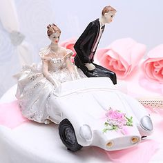 Getaway Car Wedding Cake Topper