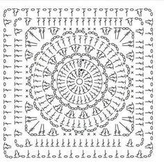 Transcendent Crochet a Solid Granny Square Ideas. Inconceivable Crochet a Solid Granny Square Ideas. Crochet Shawl Diagram, Crochet Poncho Patterns, Crochet Blocks, Granny Square Crochet Pattern, Doily Patterns, Crochet Chart, Crochet Squares, Filet Crochet, Crochet Motif