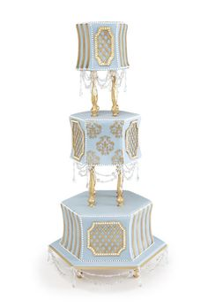 elaborate gold cake   Wedding Style Inspiration: Hotels : Wedding Cakes Gallery