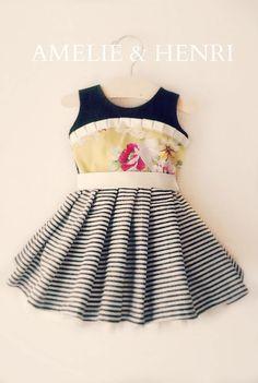 Baby Esmee Cottage Dress PDF Pattern 3m-24m - PDF Pattern