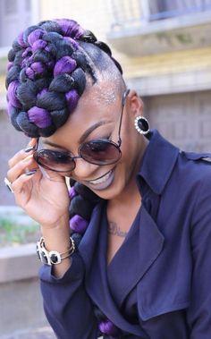 Slaying With Da Purple //  Hair Look by im_justkey