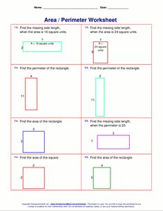 6 area and Perimeter Worksheets with Answers Worksheet Ideas Year English Worksheets Free Math √ area and Perimeter Worksheets with Answers . 6 area and Perimeter Worksheets with Answers . Teaching area and Perimeter in Area And Perimeter Worksheets, Area Worksheets, 7th Grade Math Worksheets, Free Printable Math Worksheets, Third Grade Math, Geometry Worksheets, Number Worksheets, Grammar Worksheets, Alphabet Worksheets