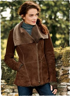 The ultimate in cold-weather luxury, superbly crafted of soft, supple Turkish shearling. The coat's wind-cutting warmth is belied by its notable light weight. Detailed with a sumptuous collar, off-center zip placket and contrast top-stitching.