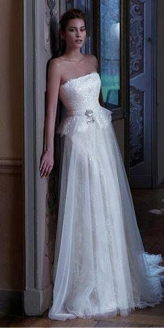 Elegant Lace   Tulle Strapless Neckline 2 in 1 Wedding Dresses with  Detachable Jacket Detachable Wedding 0260616edeee