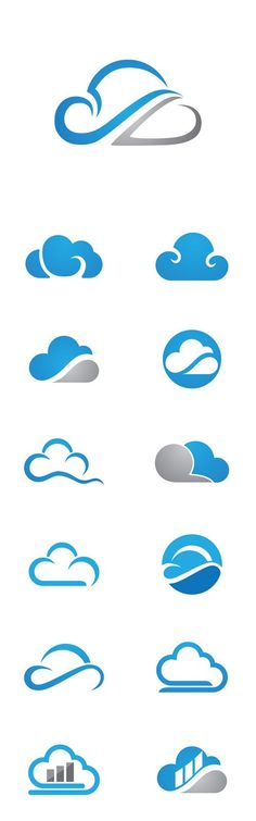 Vector Cloud Technology Logo Template Source by robertwegner Logo Branding, Branding Design, Cloud Icon, App Logo, Personal Logo, Monogram Logo, Creative Logo, Graphic Design Typography, Cool Logo