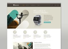 I love the hero imagery, inspired by the shape of the logo on this site