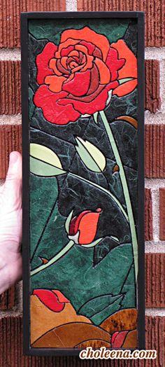 mosaic rose tile - Google Search